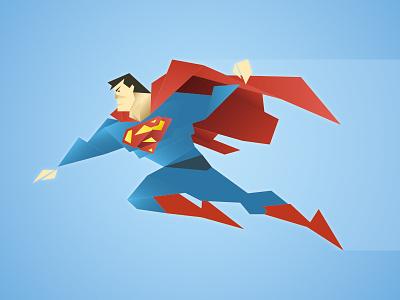 Superman superman man of steel character illustration cubic poly polygon geometric