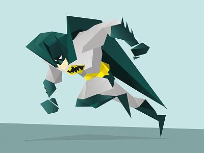 Batman cubic polygon geometric batman illustration character superhero poly
