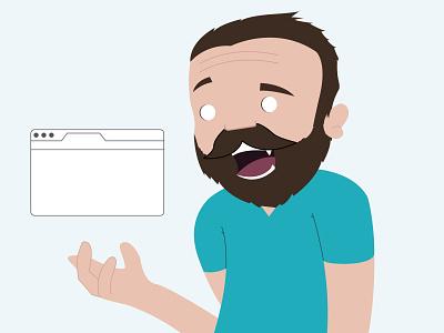 Self Portrait character self vector developer beard