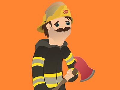 Fireman fireman illustration character design fire hero