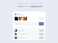 Facebook Invite Block In Flat Style