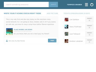 Social network flat style header social network flat header free kit facebook