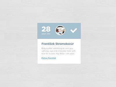 Free about / profile box free design profile about box block social