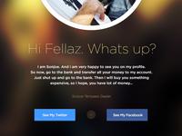 Free PSD Profile Page