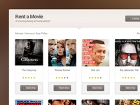 Free Movie Rent PSD Template