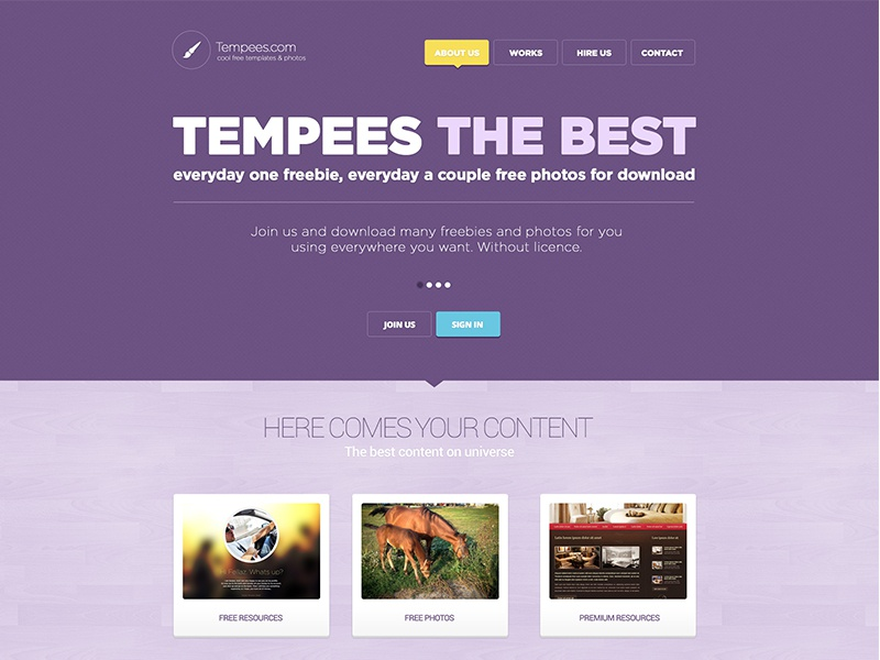 Free PSD landing page for download free psd landing page template color