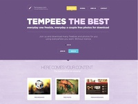 Free PSD landing page for download