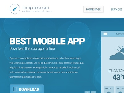 Free web design with subpage free webdesign template psd flat almost
