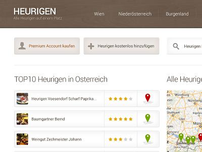 Heurigen Austria flat clean webdesign