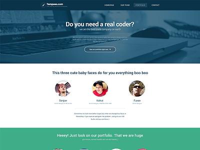 Code Company Landing Page landing page webdesign flat web design
