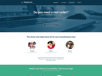 Code Company Landing Page landing page webdesign flat web design