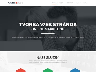Grappastudio website website responsive flat webdesing