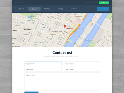 Free Contact Page Template free download tempees contact form template