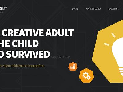GreatAdsby Webdesign webdesign greatadsby digital ads company company site yellow black