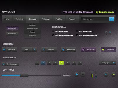 Free Dark Web UI Kit free dark web ui kit download
