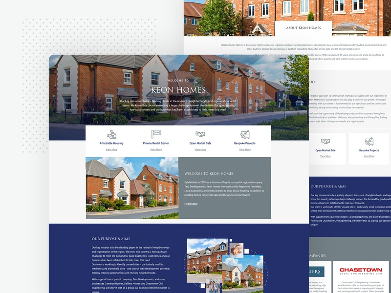 Keon Homes Website Design By Sketch