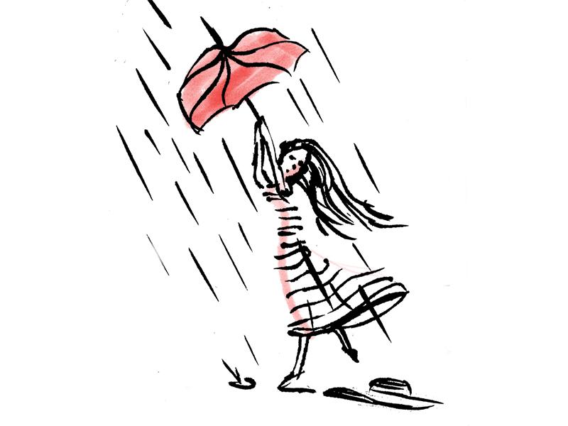 The Weather Today rain fashion woman umbrella weather