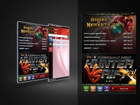Background and buttons design