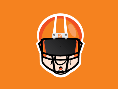 The Homer logo cartoon football the home depot design