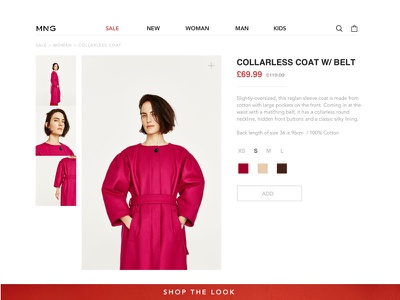 Ecommerce Single Item Page aesthetic website redesign modern grid fashion concept editorial ecommerce web design ui