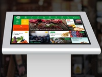 Online food market for interactive monitors