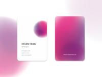 Personal name card design