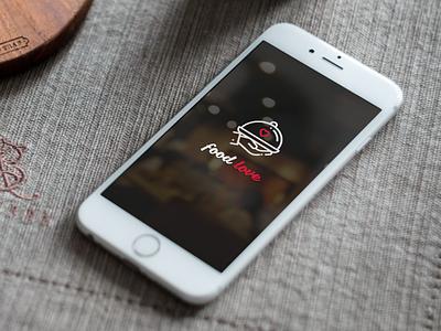 Food Love app ui design listing food love app