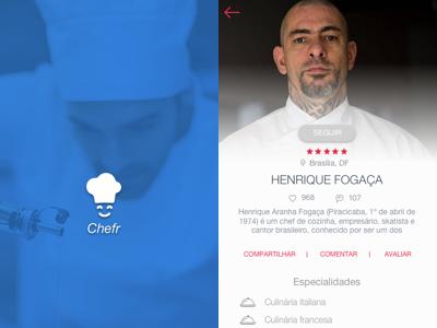 Chefr web design user interface ui interface branding logo design app