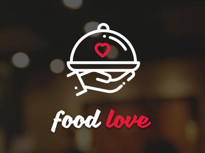 Food Love Logo web design design branding app logo