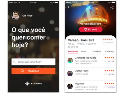 Food Love App interface ui ui design restaurant food mockup app
