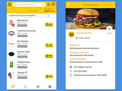 Clube Wynk App interface ui ui design food mockup app