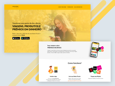 Wynk App new website ux ui app design website landing page web design
