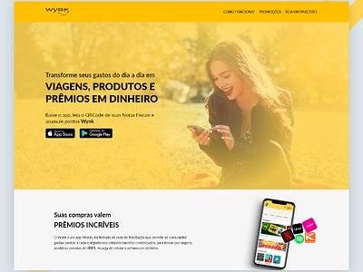 Wynk app website redesign landing page web design ux ui design interface