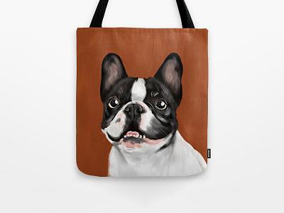 Beatriz the French Bulldog product sale digital frenchie illustration bulldog french