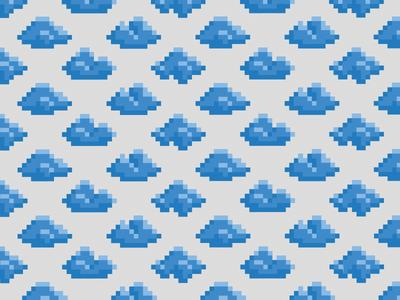 Cloudr Texture pixel 8bit cloud identity brand