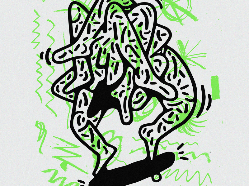 2SHY2RIDE fresh new photoshop skateboard illustration prints skate texture scribble paper fine art print movement characters drawing weird art direction 2d abstract cool