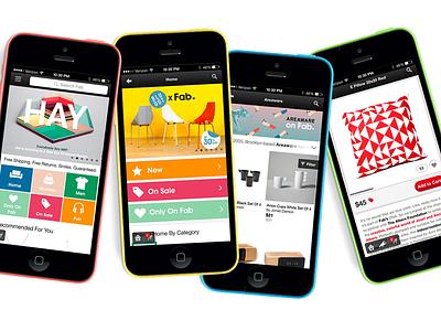 Introducing Fab App v6.0 fab iphone ipad app ui e-commerce icons helvetica color love grey black