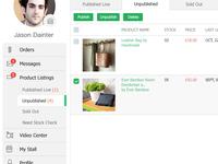 Accounts Page - Side Bar (Ecomarket)