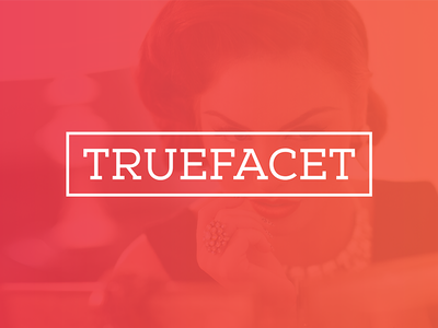 TrueFacet Logo logo truefacet luxury marketplace jewellery watches handbags ecommerce gradient typography