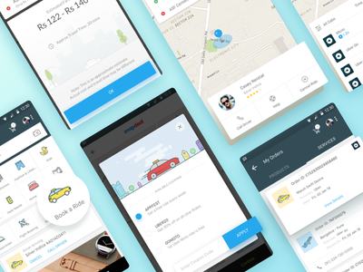 Uber now on Snapdeal App ios android snapdeal e-commerce india marketplace maps icons illustration app booking cab
