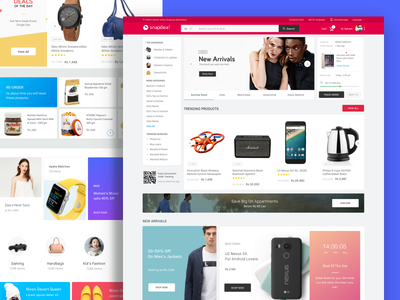 New Snapdeal Website ui shopping timer widgets maison neau material design website unbox vermello icons marketplace ecommerce