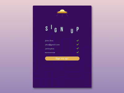 DailyUI #1 Sign Up