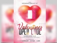 Classy Valentine Day flyer cover