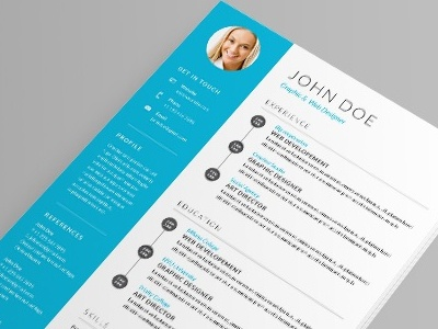 Cv Template By Madridnyc  Dribbble