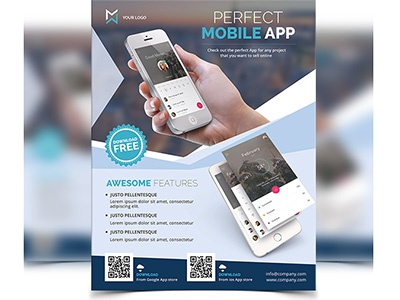 Mobile App Flyer by MadridNYC on Dribbble