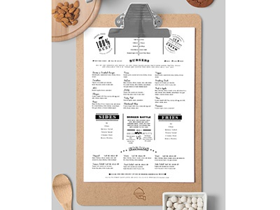 Food Restaurant Menu