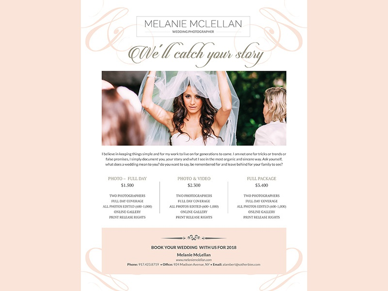 Wedding Photographer Flyer By Madridnyc Dribbble