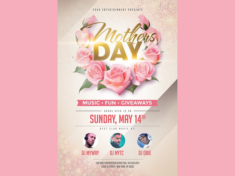 Mothers Day Flyer By Madridnyc - Dribbble