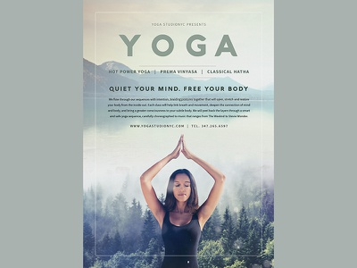 Yoga Flyer Template template relax sport modern graphic typography card flyer yoga
