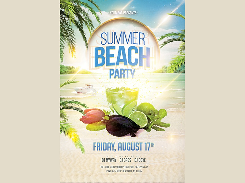Summer Beach Party Flyer By Madridnyc  Dribbble